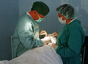 doctors operating on a patient