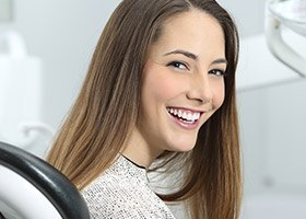 Fairfield preventive dentistry woman in dental chair smiling